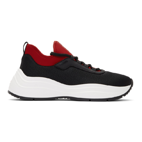 Prada Americas Cup Xl Red Detailed Sneakers In F0d9a Nerfu