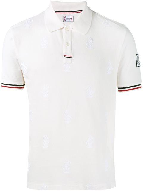 e1efc4c7a Polo Shirt With Goose Embroidery in White