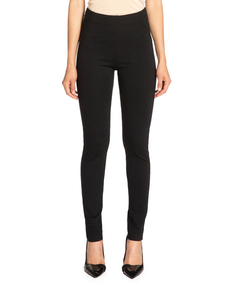 Santorelli Dawn Double Jersey Legging Pant With Seam Details In Black