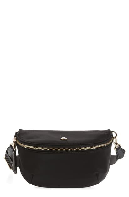 Kate Spade Medium Taylor Nylon Belt Bag In Black
