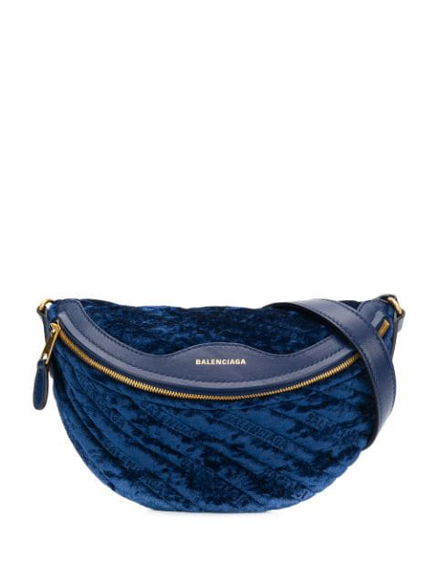 Balenciaga Souvenir Xxs Shoulder Bag In 102 - Blue