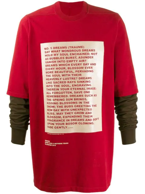 Rick Owens Drkshdw 'Larry Hustler' Pullover In Red