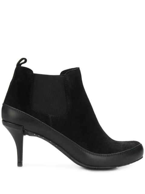 Pedro Garcia Mid-Heel Ankle Boots In Black