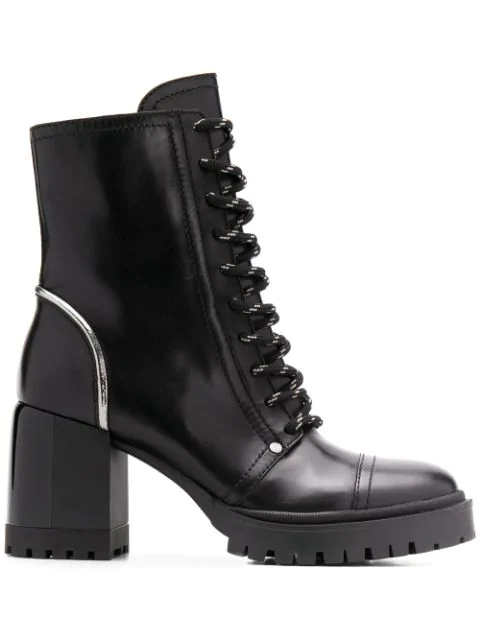 Casadei Chunky Heel Ankle Boots In Black