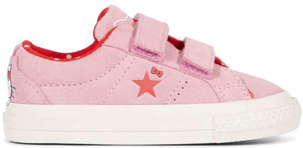 Pre-owned Converse  One Star Ox Hello Kitty Pink (td) In Prism Pink/fiery Red-egret