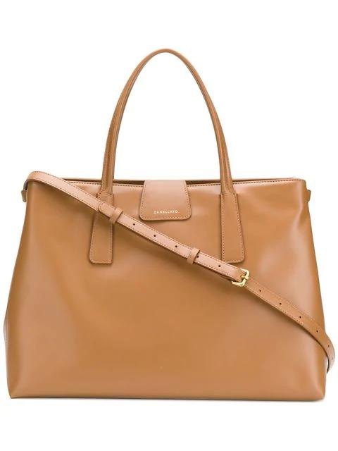 Zanellato Duo Metropolitan Shopping Bag In C3 Camel