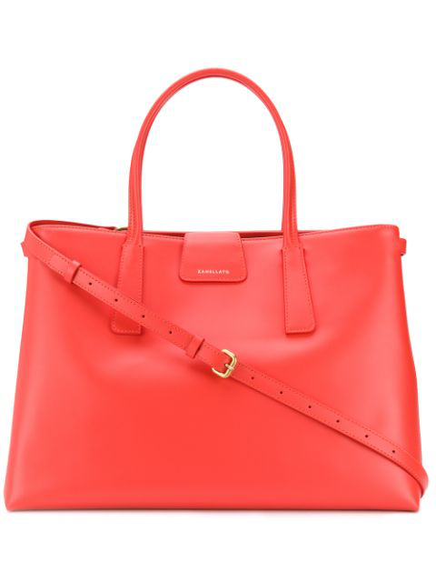 Zanellato Duo Metropolitan Leather Shopping Bag In 73 Paprica
