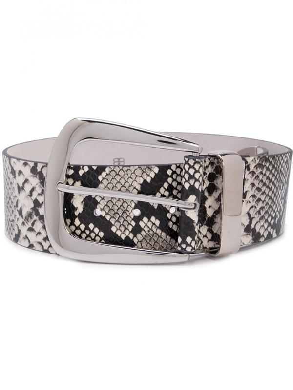 B-low The Belt Jordana Leather Belt In White