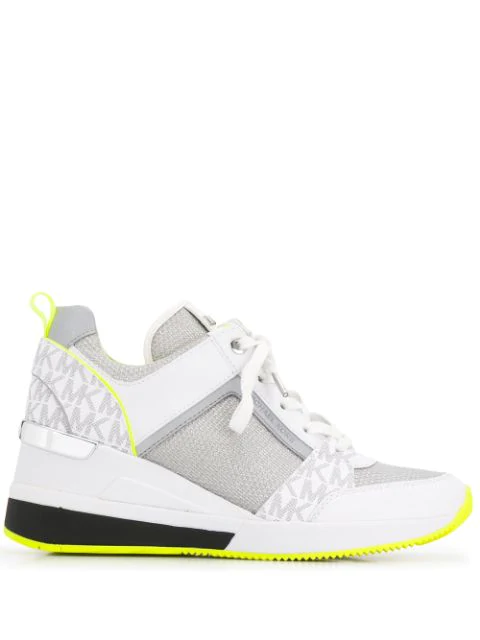Michael Michael Kors Logo Panel Sneakers In White