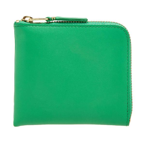 Comme Des GarÇOns Comme Des Garcons Sa3100 Classic Wallet In Green