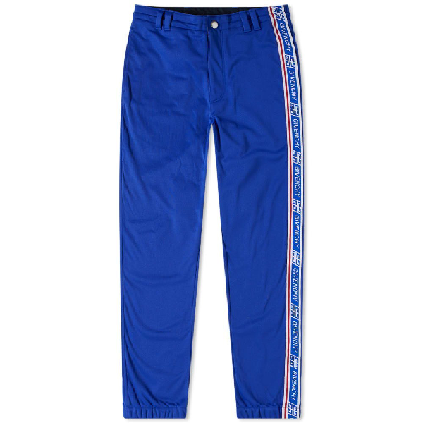 Givenchy Logo-stripe Side-panel Track Pants In Blue