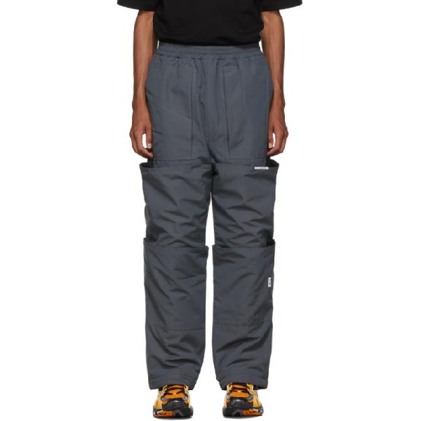 Xander Zhou Grey Cargo Lounge Pants In Darkgrey
