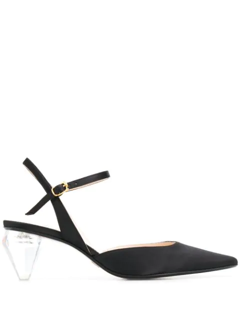 Marc Jacobs Women's The Slingback Pointed-Toe Pumps In 001 Black