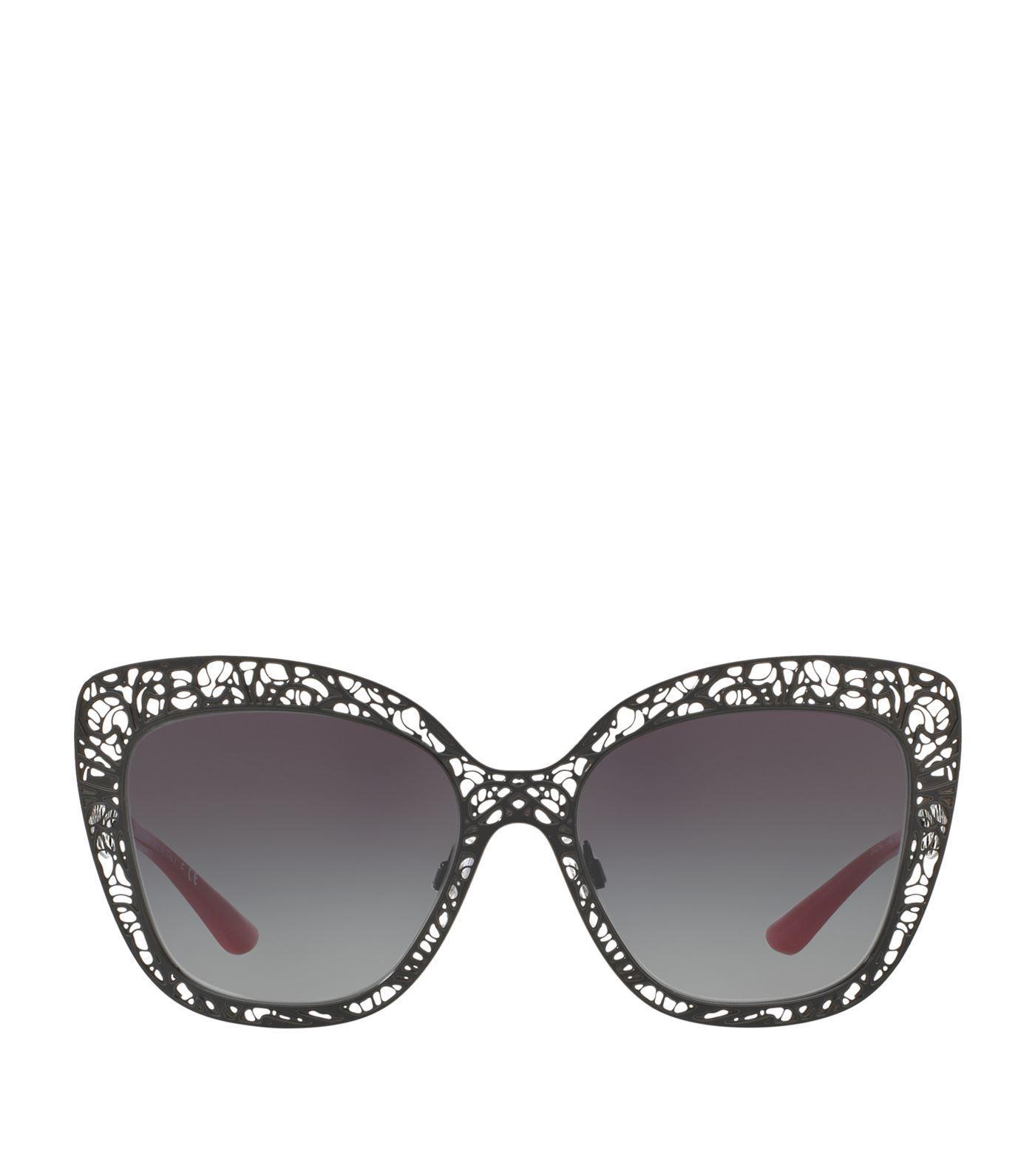 9d4717d9ccac Dolce   Gabbana Oversized Metal Frame Cat-Eye Sunglasses