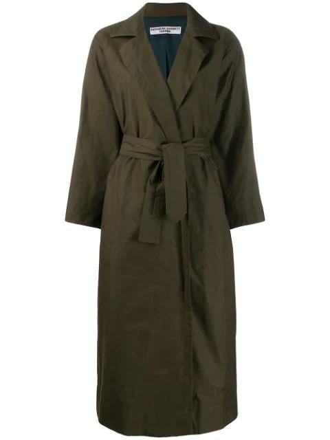 Katharine Hamnett Lola Technical Coat In Green