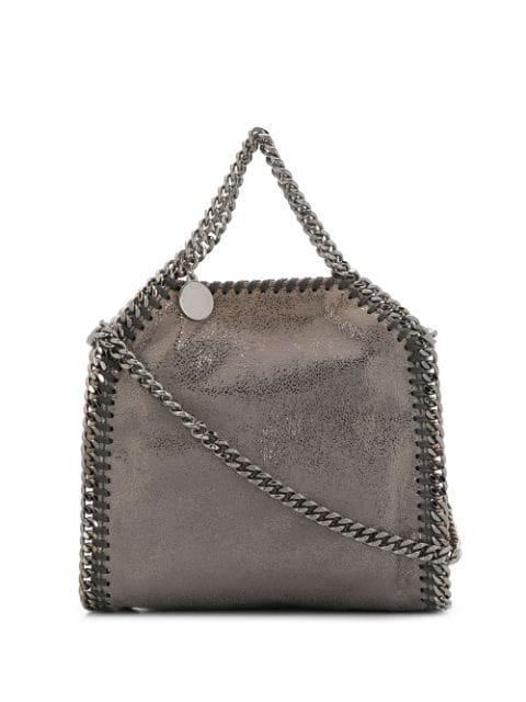 Stella Mccartney Falabella Crossbody Bag In 8030 Gold/Grey