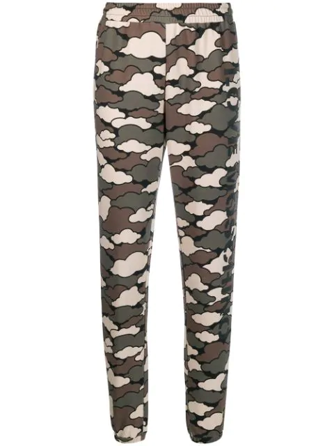 Love Moschino Military Cloud Joggers In Green