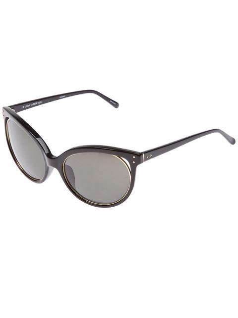 Linda Farrow ' 205' Sonnenbrille - Schwarz