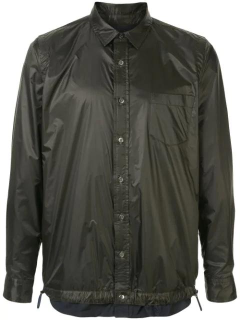 Sacai Drawstring Buttoned Shirt In Black
