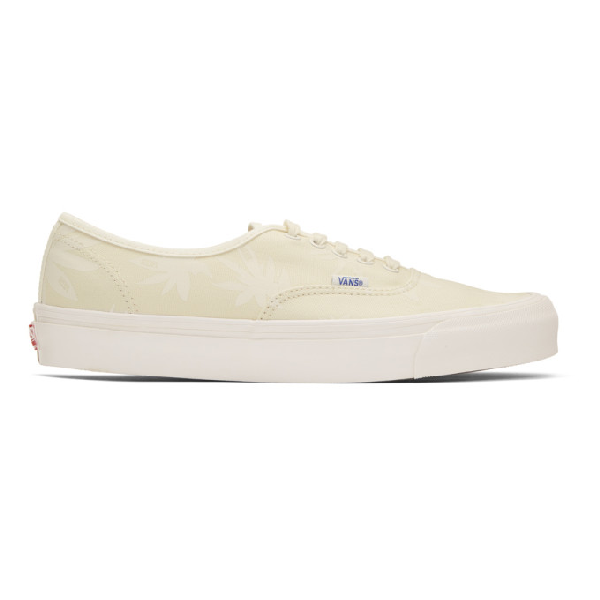 Vans Off-white Island Leaf Og Authentic Lx Sneakers In Natural
