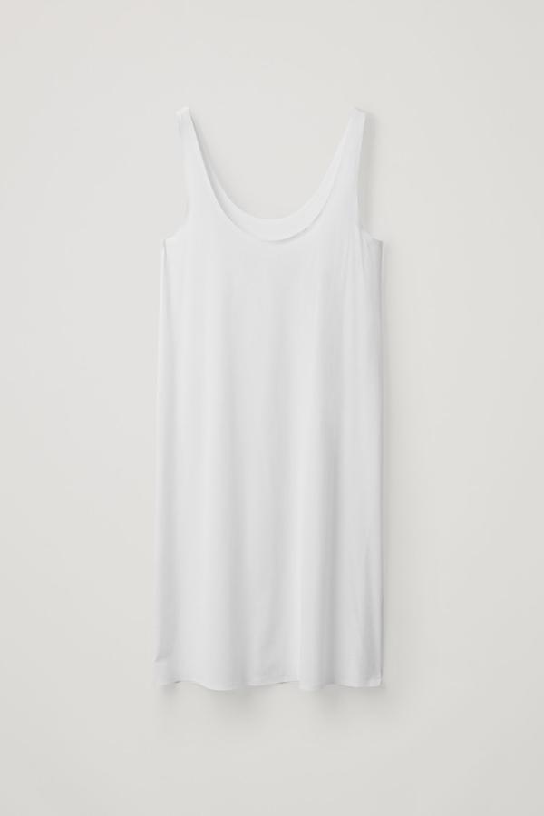 Cos Seamless Slip Dress In White