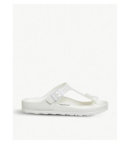 Birkenstock Gizeh Toe-Post Faux-Leather Sandals In White Eva