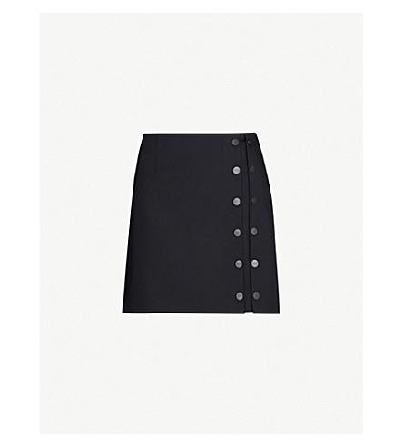 Artica Arbox Buttoned Wool-Blend Mini Skirt In Black