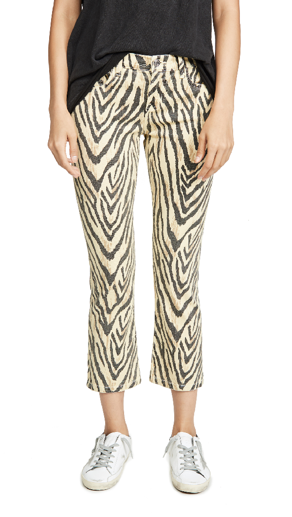 Current Elliott The Ruby Crop Jean In Natural Zebra Print