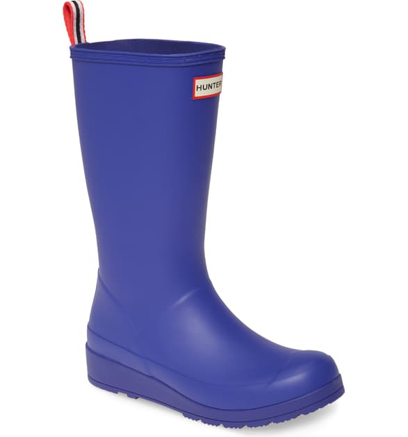 Hunter Original Play Tall Waterproof Rain Boot In Electric Storm
