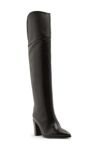 Schutz Anaisha Pointed Toe Over The Knee Boot In Black
