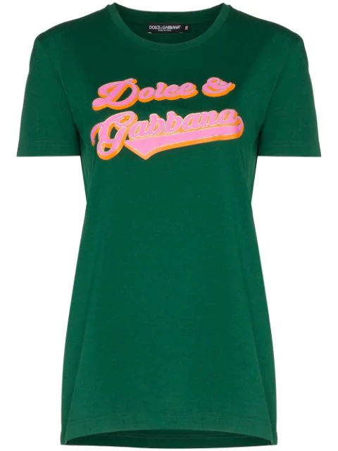 Dolce & Gabbana Logo Printed T In Green