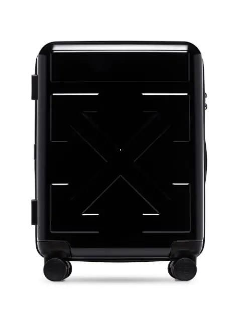 Off-white Arrow Motif Suitcase In Black