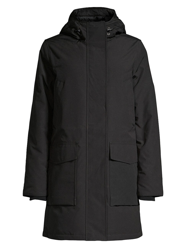 Canada Goose Canmore Hooded Feather And Shell-down Parka In Black