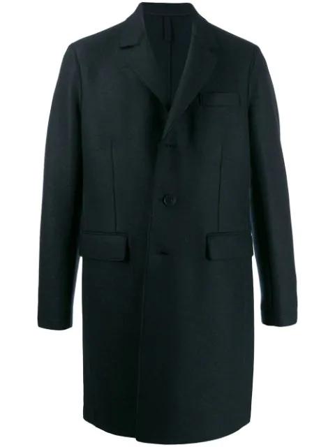 Harris Wharf London Single-breasted Coat In Blue