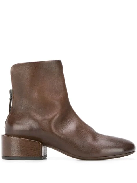 Marsèll Rear Zipped Boots In Brown