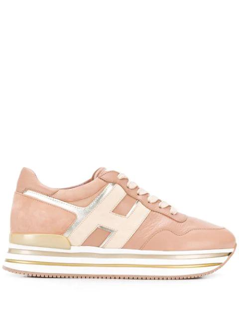 Hogan Flatform-sneakers In Pink