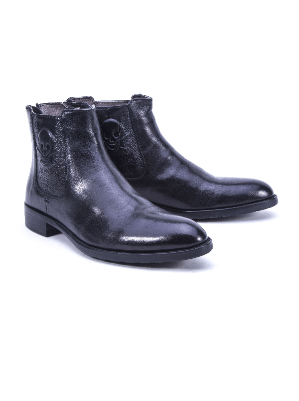 Robert Graham Men's Dutchy Leather Boot In Black Size: 13 By