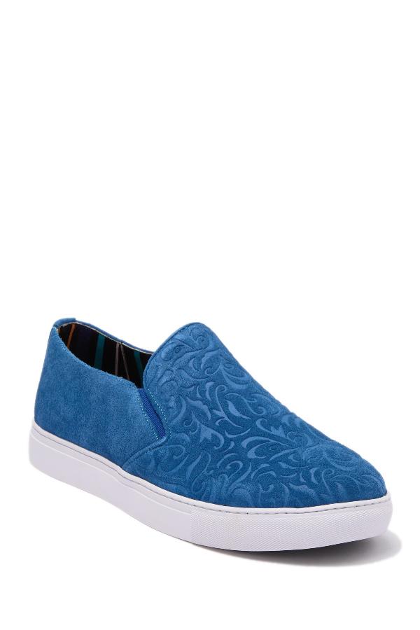Robert Graham Cormac Slip-On Sneaker In Royal