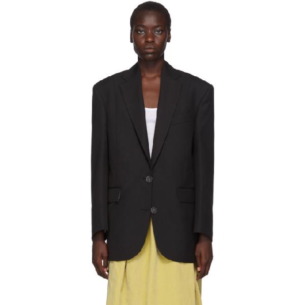 Acne Studios Menswear-inspired Tailored Jacket In Black