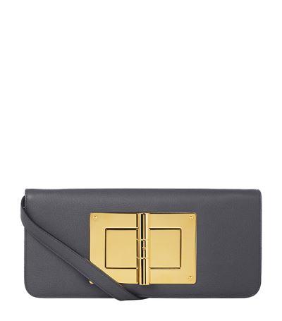 Tom Ford Natalia Leather Shoulder Bag In Graphite