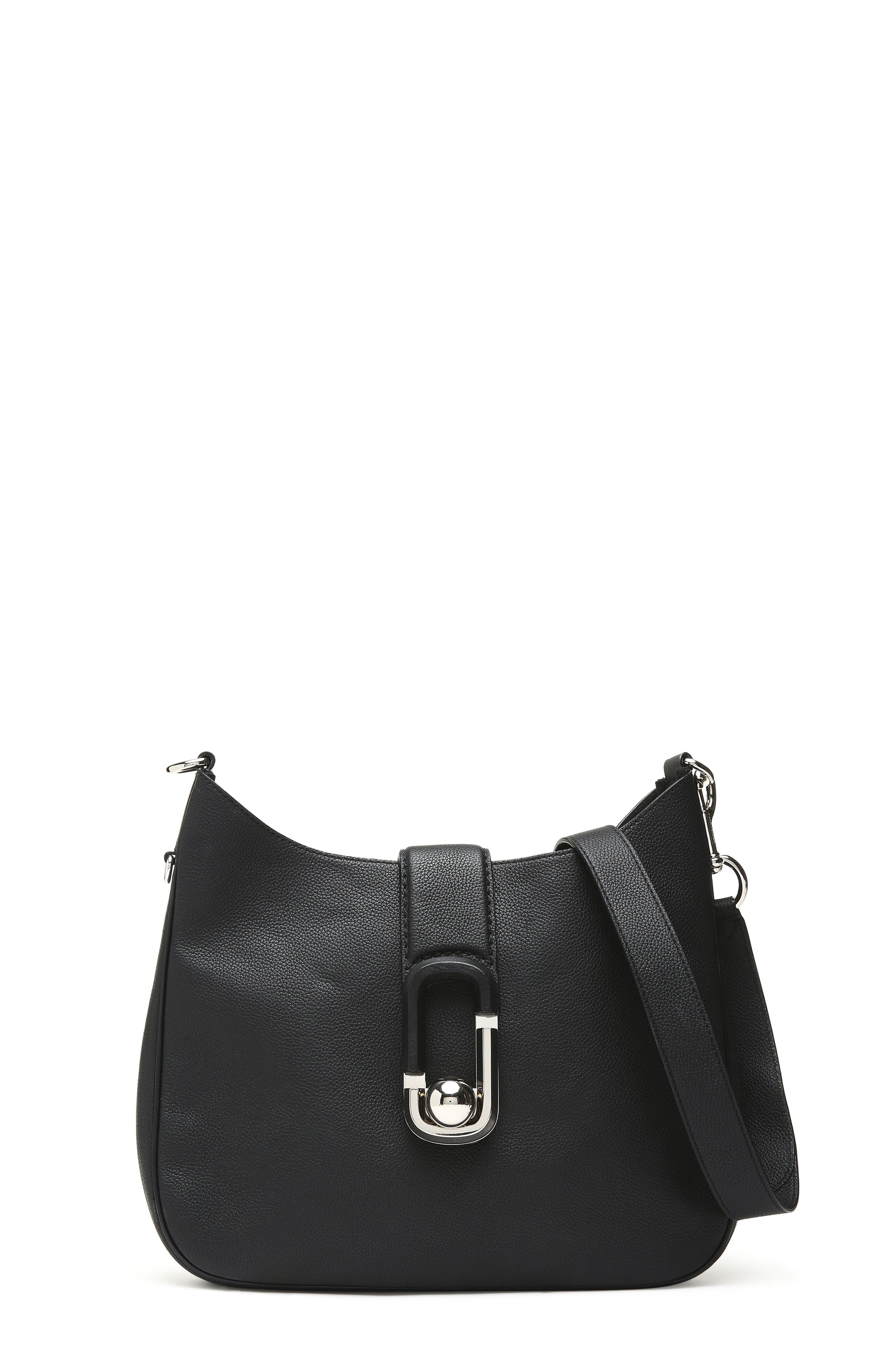 6db204c65b92 Marc Jacobs Interlock Leather Small Hobo Bag In Black