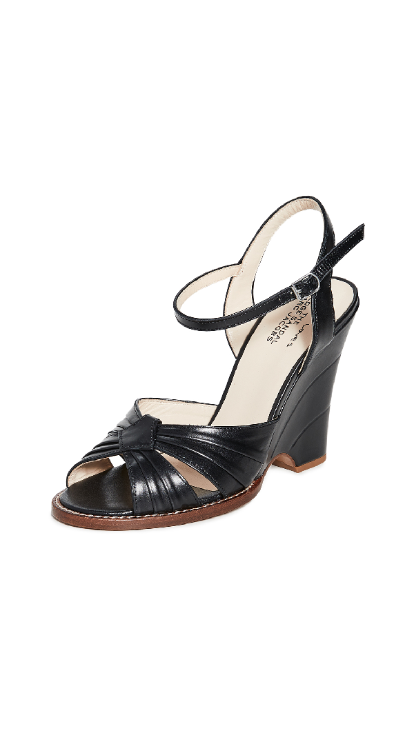 Marc Jacobs Women's Sofia Loves The Wedge Open-Toe Sandals In Black