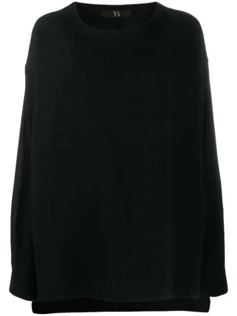 Y's Wool Blend Long Jumper In Black