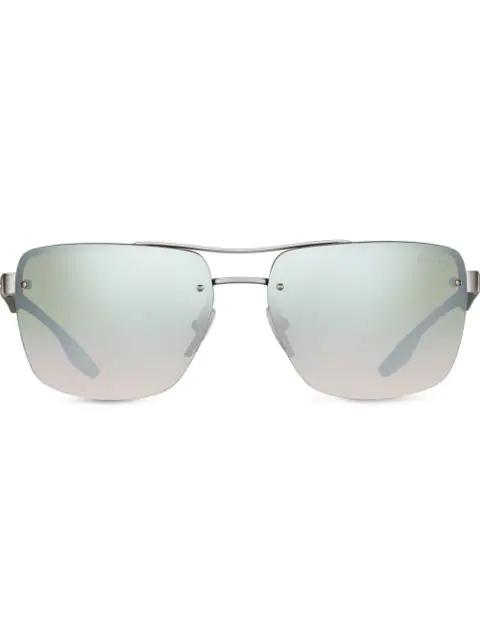 Prada Linea Rossa Sunglasses In Green