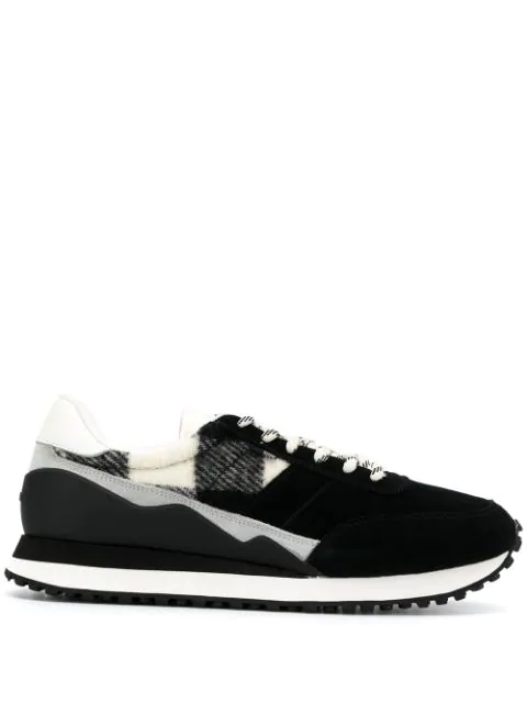 Woolrich Knitted Detail Sneakers In Black