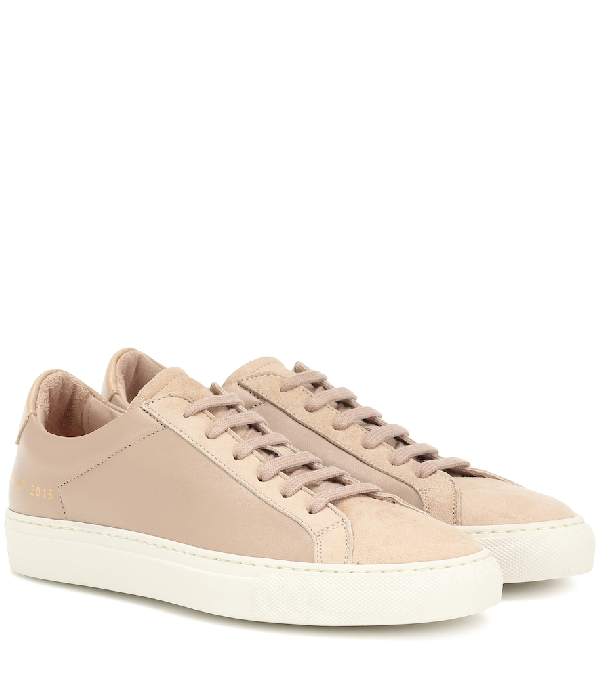 Common Projects Achilles Leather Sneakers In Pink