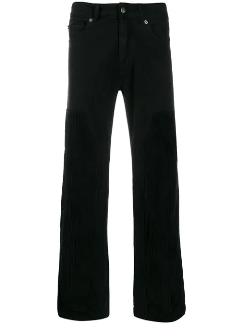 David Catalan Wide Leg Trousers In Black