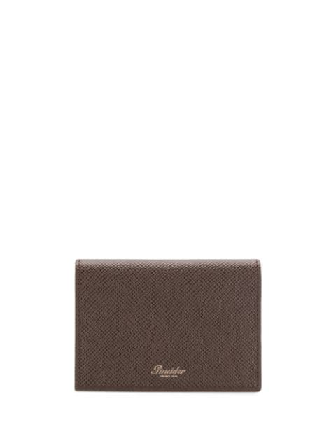 Pineider Bi-fold Logo Cardholder In Brown