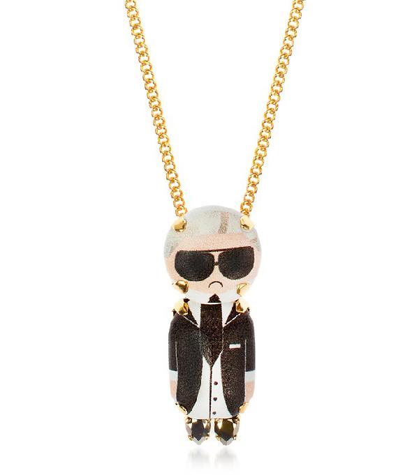 Bijoux De Famille Karl Chain Pendant Necklace In Black