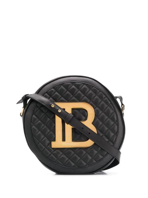 Balmain Disco Shoulder Bag In 0Pa Noir